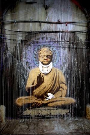 Injured-Buddha-by-Banksy